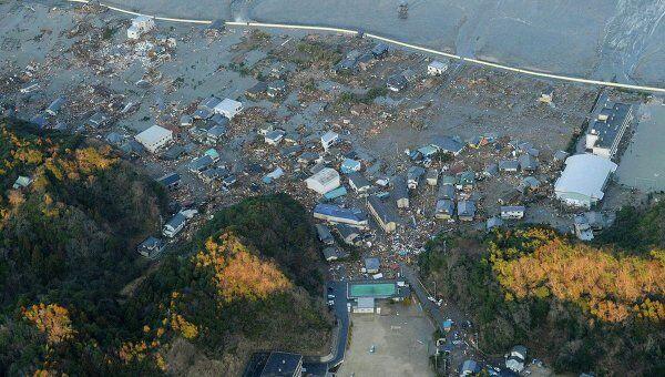 Последствия землетрясения и цунами в японском городе Иваки