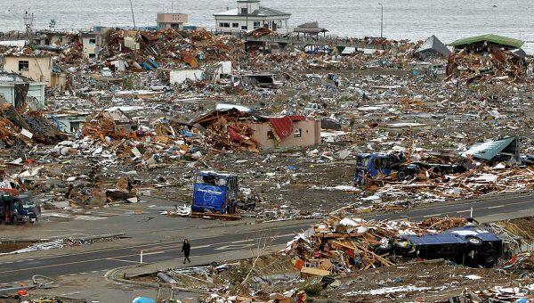 Последствия землетрясение в префектуре Иватэ в Японии, 17 марта 2011