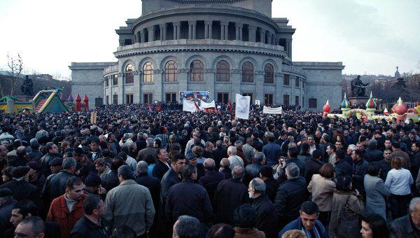 Митинг оппозиции проходит в центре Еревана