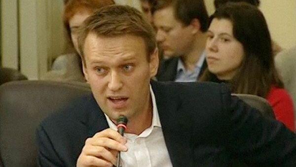 Алексей Навальный на публичной дискуссии с ректором ГУ ВШЭ Ярославом Кузьминовым