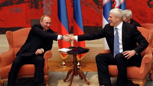 Переговоры Владимира Путина и Бориса Тадича в Белграде