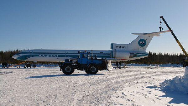 Аварийно севший в Коми самолет Ту-154