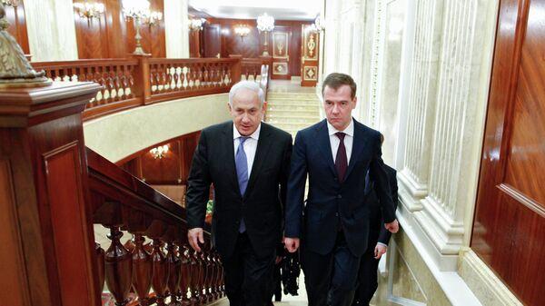 Президент РФ Д.Медведев принял премьер-министра Израиля Б.Нетаньяху