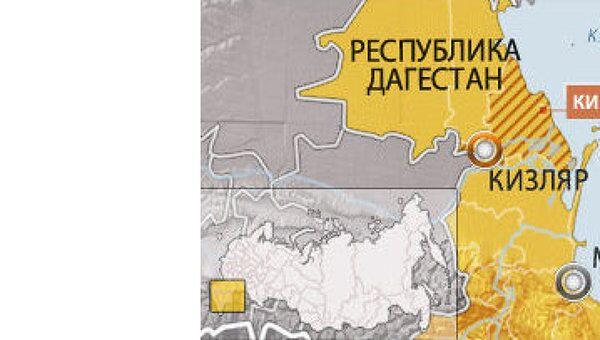 Кизлярский район Дагестана, карта