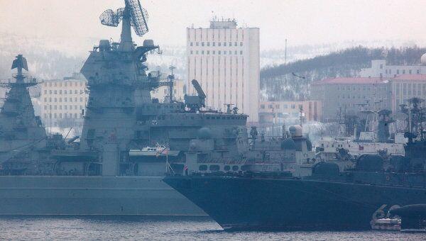 Учения Северного флота ВМФ России. Архивное фото