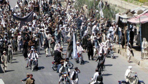 Акция протеста в афганском Кандагаре