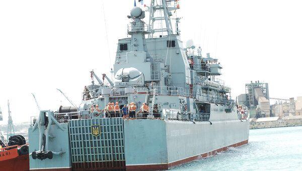 Прибытие большого десантного корабля ВМС Украины на Мальту