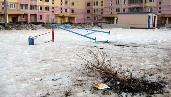 Необустроенные детские площадки в районе Новой Трехгорки