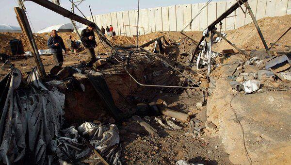 Последствия израильского авиаудара по сектору Газа