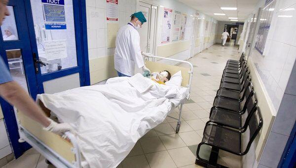 Пострадавшие в результате взрыва в минском метро в больнице