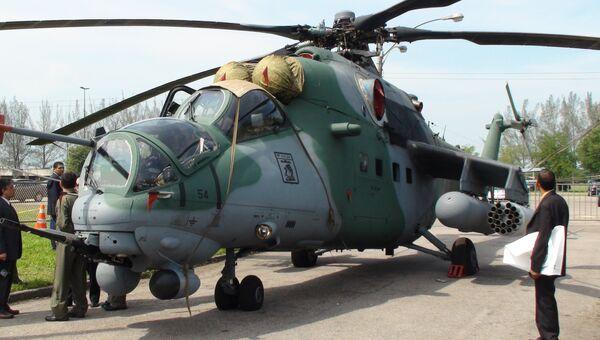 МИ-35М на выставке LAAD-2011 в Рио-де-Жанейро. Архивное фото