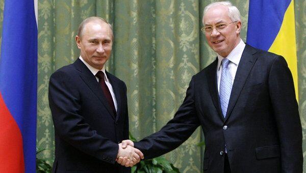 Встреча Владимира Путина и Николая Азарова в Киеве