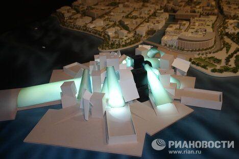 Макет музейного комплекса на острове Саадият в Абу-Даби