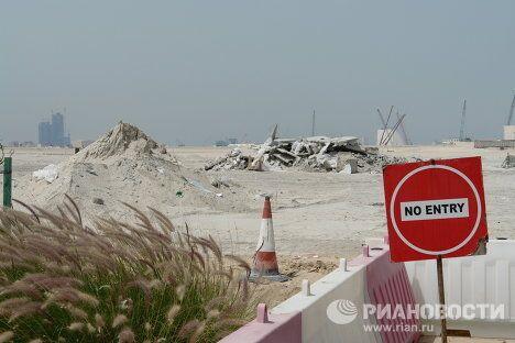 Место строительства музейного комплекса на острове Саадият в Абу-Даби.
