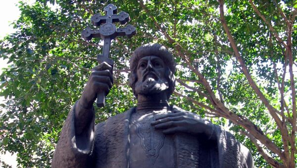 Памятник легендарному русскому князю Владимиру в  Буэнос-Айресе. Архивное фото
