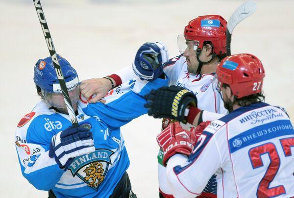 конфликтная ситуация в матче Россия – Финляндия