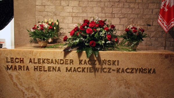 Место захоронения погибшего в авиакатастрофе под Смоленском президента Польши Леха Качинького - Краков, замок на Вавеле. Архивное фото