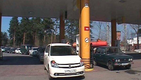 Из-за бензинового кризиса на Алтае возле АЗС выстроились длинные очереди