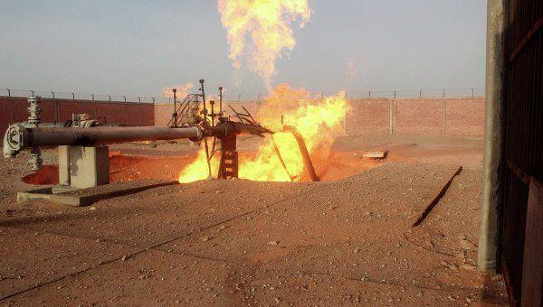 Взрыв газопровода в районе Эс-Сабиль на Синайском полуострове в Египте