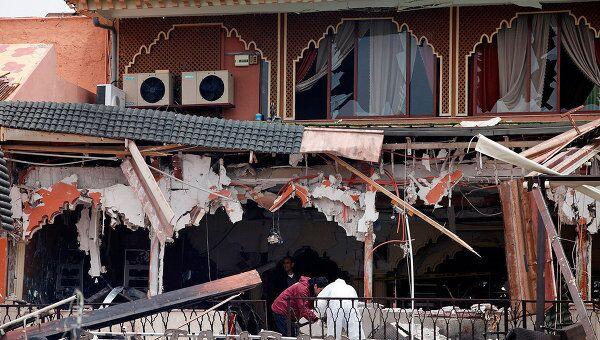 Взрыв в центре Марракеша