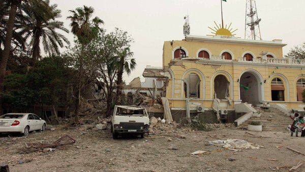 Последствия бомбардировок Триполи
