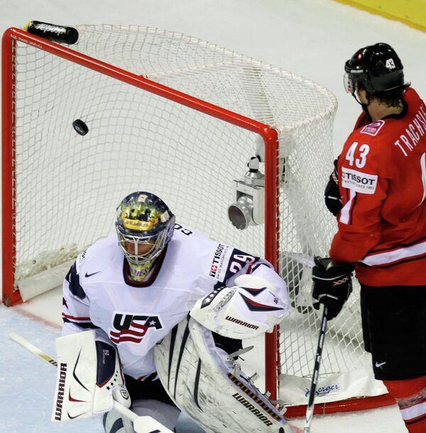 Игровой момент матча Швейцаря - США