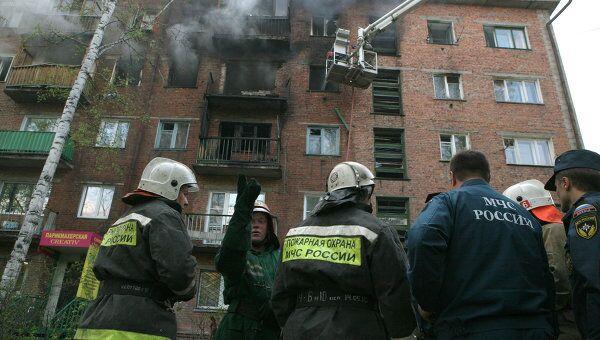 Взрыв газа в жилом доме в Новосибирске