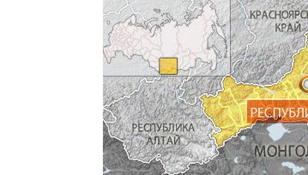 Республика Тыва. Карта
