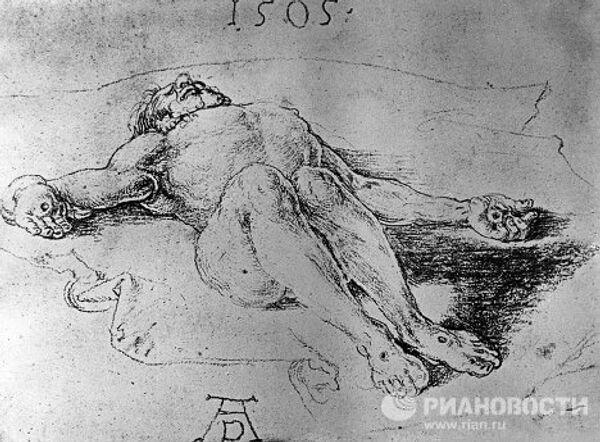 Рисунок Дюрера Христос, снятый с креста