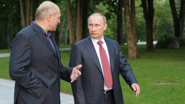 Встреча Владимира Путина с президентом Белоруссии Александром Лукашенко. Архив