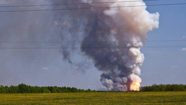 Пожар и взрывы в воинской части в Башкирии
