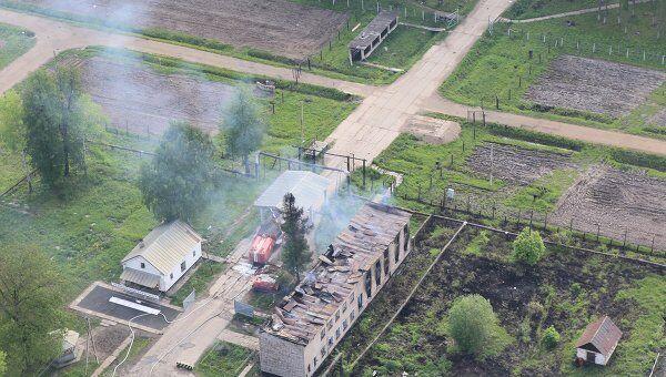 Пожар на 99-м арсенале Минобороны РФ в поселке Урман в Башкирии