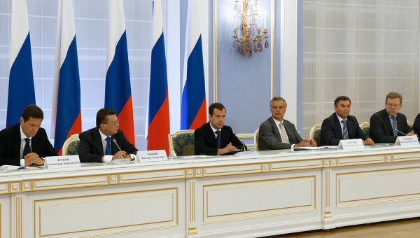 Дмитрий Медведев проводит заседание Госсовета и комиссии по нацпропектам