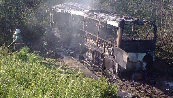 ДТП с участием рейсового автобуса МАН и автомобиля Вольво в Тверской области