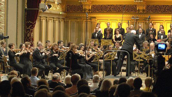 Выступление симфонического оркестра имени Джордже Энеску