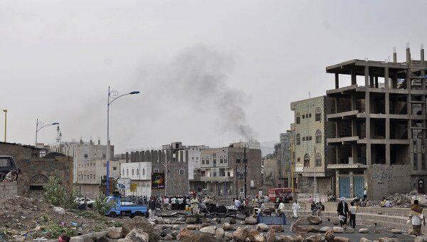 На улицах Таиза, Йемен