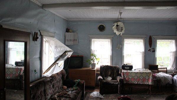 Последствия взрыва на военном арсенале. Поселок Пугачево, Удмуртия