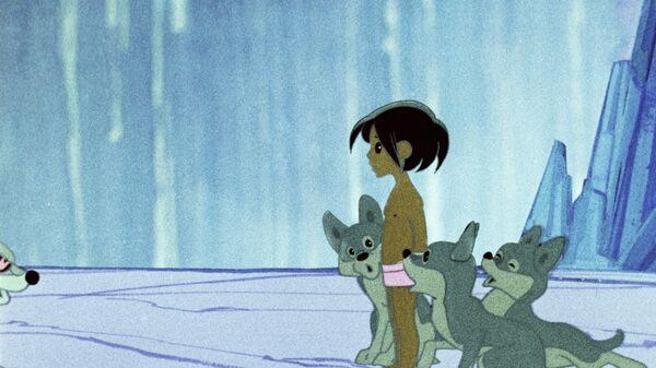 Кадр из мультипликационного фильма Маугли