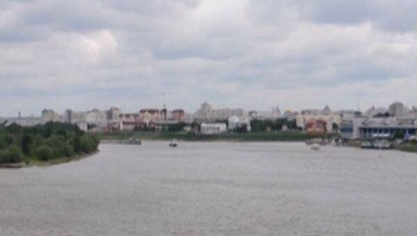 Панорама центральной части Омска с высоты Ленинградского моста