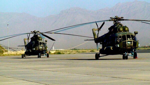 Вертолеты Ми-17 в Афганистане. Архив