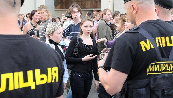 Несанкционированная акция протеста прошла в Минске