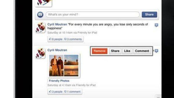 Приложение Friendly - Facebook для iPad
