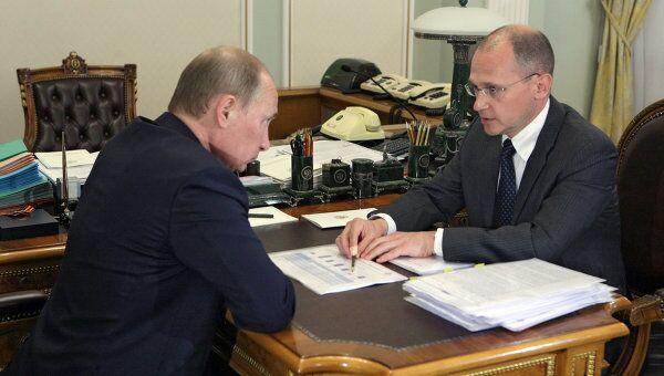 Премьер-министр РФ В.Путин провел встречу с главой Росатома С.Кириенко