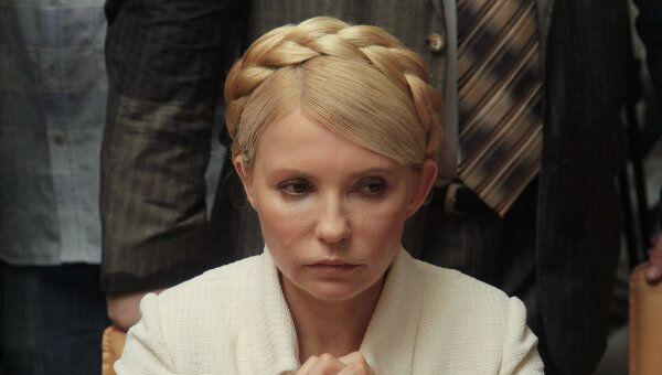 Юлии Тимошенко на судебном заседании. Архив