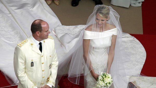 Князь Альбер II и княгиня Шарлен обвенчались в Монако