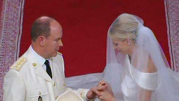 Церемония венчания князя Монако Альбера II и княгини Шарлен