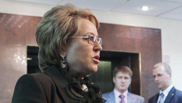 Губернатор Санкт-Петербурга Валентина Матвиенко. Архив