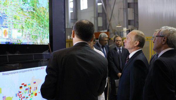 Премьер-министр РФ В.Путин посещает ММНО Объединенный институт ядерных исследований