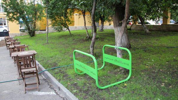 Велопарковки у столичных ресторанов