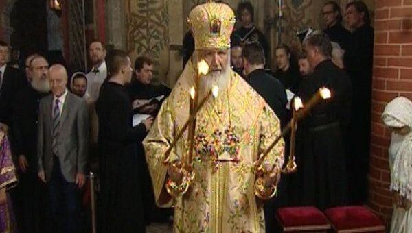 Божественная литургия в честь 450-летия храма Василия Блаженного